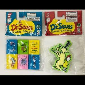 Dr. Seuss Pencil Sharpener/Erasers